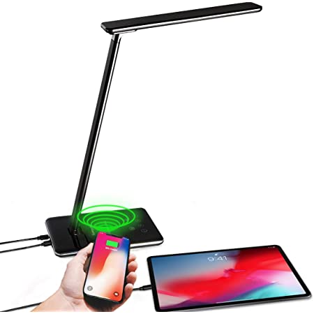 3 in 1 Wireless Fast Charger Table Lamp Night Light Pad Phone Holder C1B8