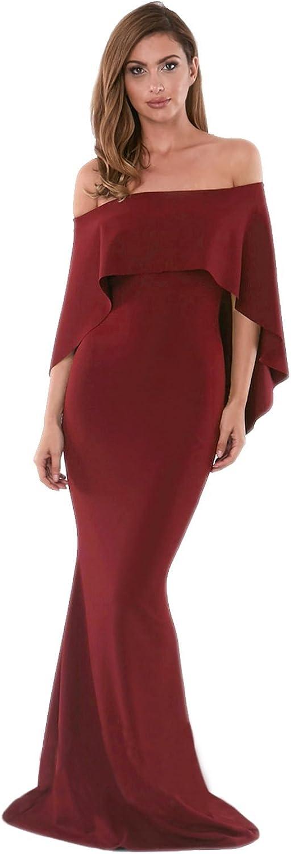 Grace's Secret Women's 3 4 Sleeve V Neck Pocket Floral Flared Skirt Midi Dress