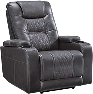 Signature Design by Ashley 2150613 Composer Power Recliner, Gray
