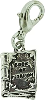 H7 Book of Mormon Charm Antique Silver Tone One Moment In Time