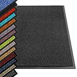 etm® Schmutzfangmatte - Note 1,6: Sieger Preis-Leistung - Fußmatte in vielen Größen - Türmatte Fußabstreifer für Haustür innen und außen (Anthrazit-Schwarz, 60x90 cm)