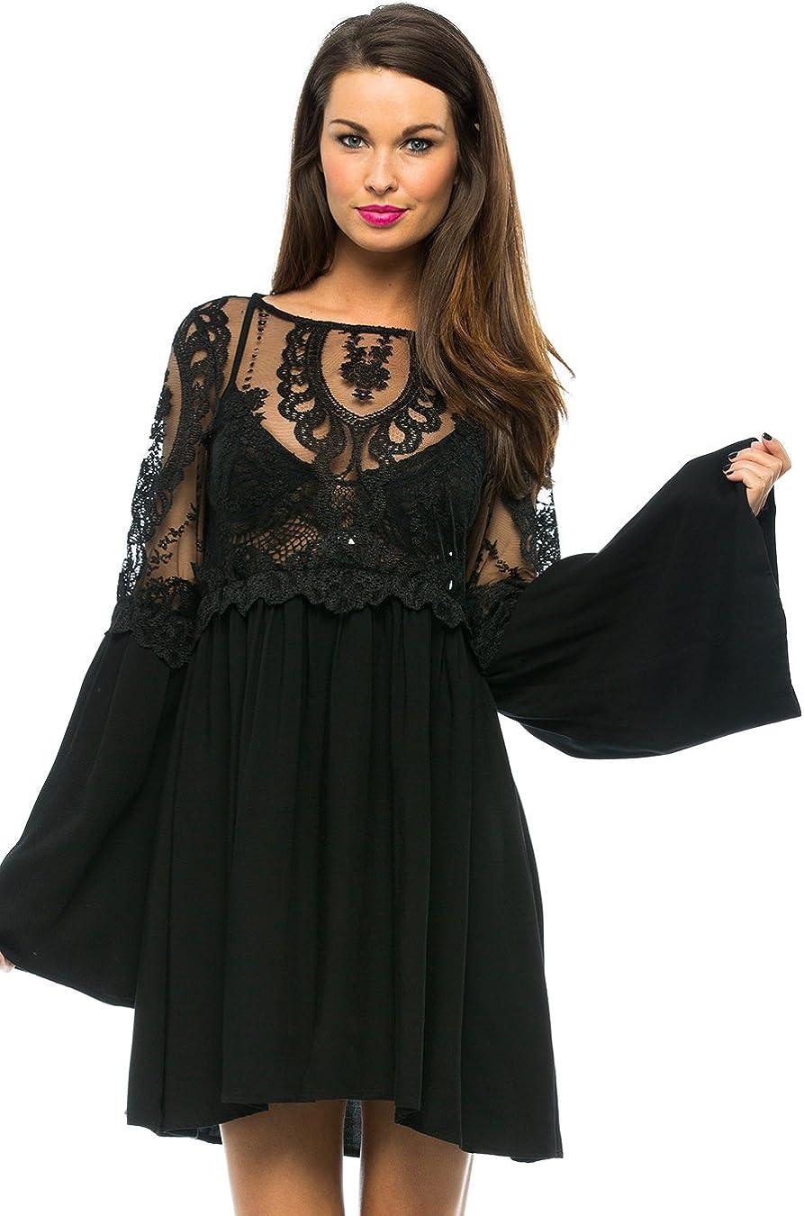 For Love & Lemons Isabella Dress - Size X-Small Black