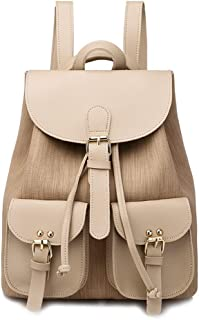 GYYlucky Women's Backpack 2019 New Fashion College Wind Women Bag Backpack (Color : Apricot)