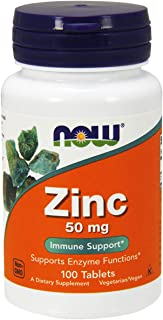 NOW Foods Zinc Gluconate, 100 Tablets / 50mg