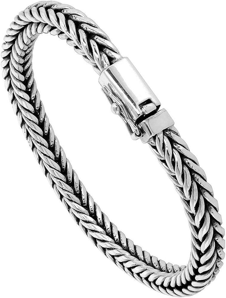 Fox Bracelet Sterling Silver Finish Large Fox Statement Bracelet