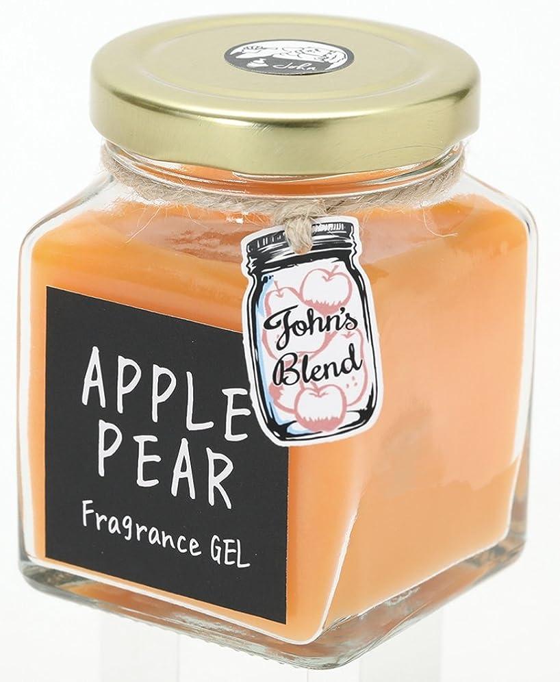 開いた酸度信条ノルコーポレーション John's Blend ルームフレグランス フレグランスジェル OA-JON-4-4 アップルペアーの香り 135g