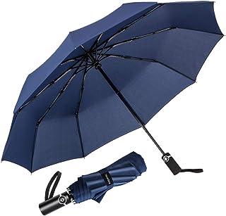 Paraguas Plegable Automático Impermeable 10 Armazones de Metal Compacto Resistencia contra Viento para Viaje para Hombres y Mujeres