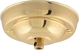 Rosetón de techo ElekTek de 108 mm de diámetro con conexión de cable, acabados metálicos con recubrimiento en polvo de colores para instalaciones de lámparas colgantes