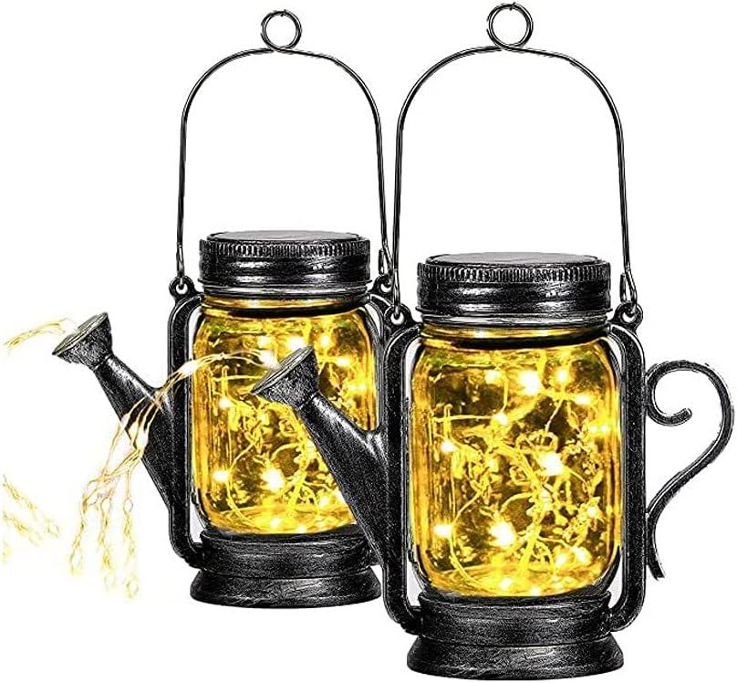 Free shipping on posting reviews Max 62% OFF Lantern Solar Lights Outdoor Garden Hanging Jar Mason Ligh