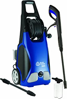 AR Blue Clean, AR383 1,900 PSI Electric Pressure Washer, Nozzles, Spray Gun, Wand, Detergent Bottle & Hose