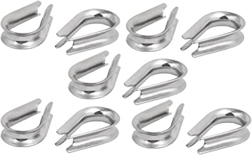 """X-Dr Stainless Steel 8mm 5/16"""" Standard Wire Rope Cable Thimbles Silver Tone 10 Pcs (58dad9ed-a222-11e9-8d7c-4cedfbbbda4e)"""