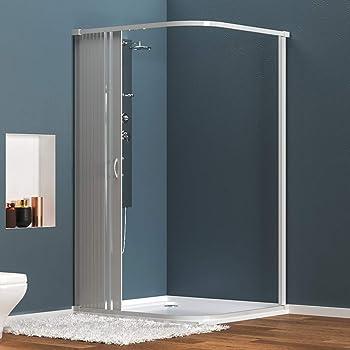 Mampara de ducha Angular Apertura de Puerta Plegable Antical 90x90cm: Amazon.es: Bricolaje y herramientas