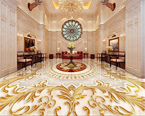 Mznm Stock 3D achtergrond afbeelding in Europese stijl woonkamer luxe goud roze marmer abstract patroon 3D vloerbedekking papel Pintado 280 x 200 cm.