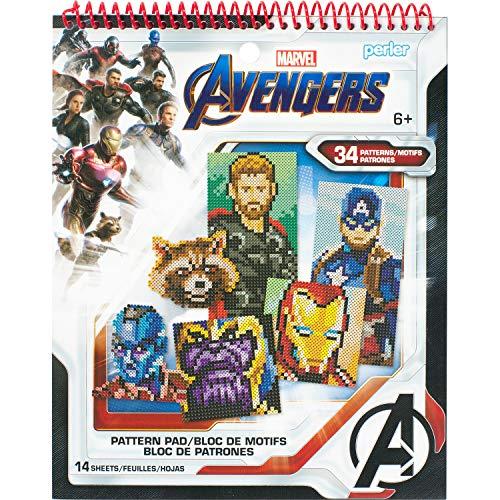 Perler Beads Marvel Avengers Instruction Pad, 34 Patterns, Multicolor