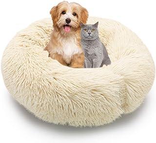 comprar comparacion MMTX Cama Perros Redonda Cojín Gatos Sofá para Perros Donut Suave Cama Mascotas Calentito Lnvierno Felpa Gato Dormido Cama...