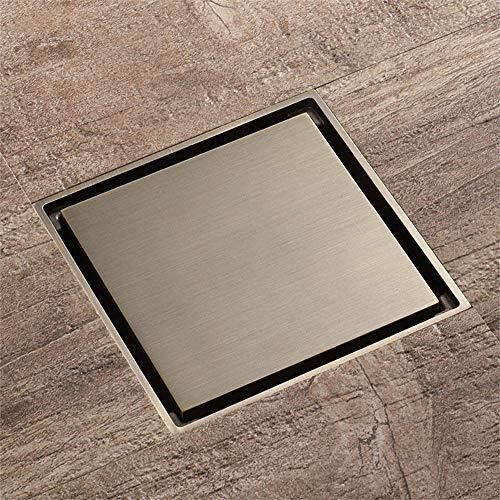 ZXL Pure Koper Vloer Siphon/Deodorant Vloer Afvoer Anti-Insect Keuken Deodorant Keuken Badkamer Verwijderbaar Vierkant (100mm \\\ u0026 Times; 100mm)