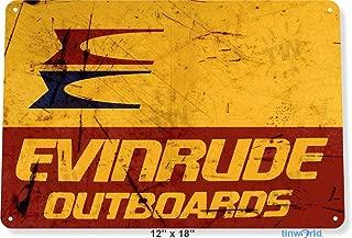 NGFD TIN Sign 8x12 inch Evinrude Outboards Retro Boating Fishing Marina Metal Decor B562