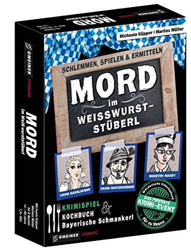 Gmeiner Verlag 581611 Mord Im WeißwursTSTüberl Kartenspiel: schlemmen, spielen & ermitteln (Krimispiele im GMEINER-Verlag)
