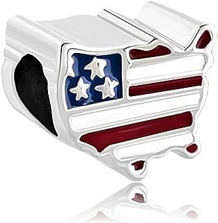 Best pandora usa flag charm Reviews