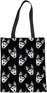 Upetstory Animals Print Canvas Tote Bag Ladies Handbags Travel Bag Shoulder Bags Big Capacity for Kids Teens