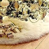 Gudotra 90cm Blanco Falda Decoración para Pie de �rbol de Navidad