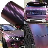 ATMOMO Purple and Blue Car Chameleon Wrap Auto Carbon Fiber Wrapping Film Vehicle Change Color Sticker Tint Vinyl Air Bubble Free (75cm x 152cm)