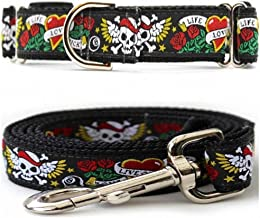 """product image for Diva-Dog 'Wild One' Medium & Large Dog 1"""" Wide Chainless Martingale Dog Collar, Matching Leash Available - MD, LG, XL"""
