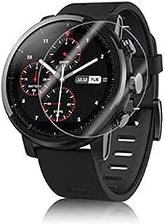 【 4枚 】 QULLOO Xiaomi Mi Watch フィルム 薄型 日本旭硝子素材 全面保護フィルム 高透過率 反射防止 TPU材料 指紋気泡防止 Xiaomi Mi Watch 液晶保護フィルム