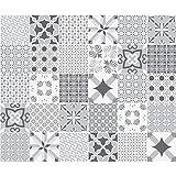Carreaux de ciment adhésif mural - azulejos - 20 x 20 cm - 30 pièces