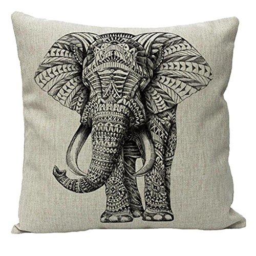 JOTOM Kissenbezug, Geometrische Pfeil Serie Home Office Dekorative Kissenbezug Dekokissen Kissenbezug Platz Dekorative Couch Sofa 45 x 45 cm (Elefant)