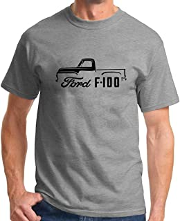 1953-56 Ford F-100 Pickup Truck Classic Outline Design Tshirt