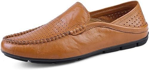 JIALUN-des Chaussures Personnalité Masculine Mocassins Wave Sole Mocassins Mocassins Souples et Super légers à Enfiler (Couleur   jaune HolFaible, Taille   43 EU)  haute qualité générale