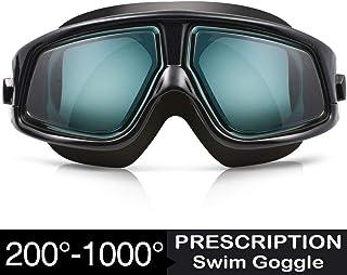 Zionor RX Prescription Swim Goggles, Optical Corrective...