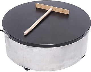 Crepes Maker crepes järn (Ø 40 cm, 2200 W, gjutjärn med emaljbeläggning, rostfritt stål, inkl. degfördelare)