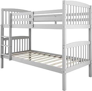 Noa and Nani - Brighton Bunk Bed | Splits into 2 Singles - (Silk Grey)