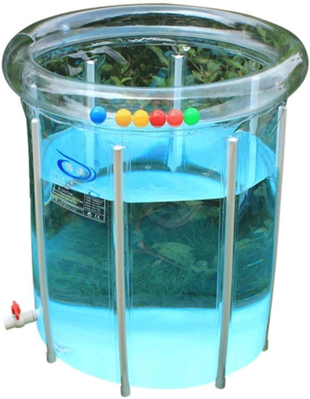 cómodo BEITAI Soporte de aleación Plegable Transparente Transparente Transparente bebé Piscina bebé natación Cubo 32  32 Pulgadas (Transparente)  el mas reciente