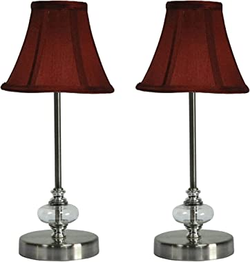 Urbanest Lucas Mini Nightstand Desk Accent Lamps - Set of 2