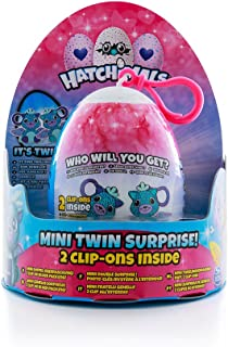 Hatchimals Mini Twin Surprise - Hatchimal Egg Toy Featuring 1 of 4 Fun Collectible Mini Dolls | Glittering Garden Surprise with 2 Clip Ons Inside | Who Will You Get? | Kids Toys for Boys & Girls