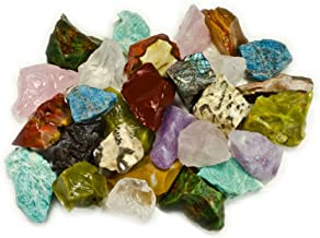 Hypnotic Gems Materials: 3 lbs (Best Value) Hand Bagged 17 Stone Type Madagascar Mix - Natural Raw Stones & Fountain Rocks...