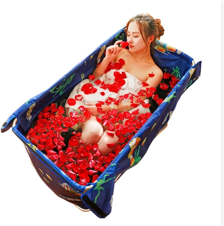 GYL Einfache faltende Badewanne-Isolierung erwachsenes Kind-Bad verdickte Umweltschutz-Materialien 108  80  52cm10 Sekunden, um die Lagerung zu ffnen, ist einfach (Farbe   Blau)
