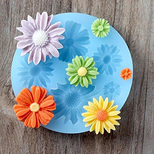 JIAJU küche braten DIY Mould Daisy Blume Silica Gel Mini Schokolade Mould