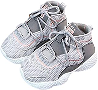 Hopscotch Baby Boys PU Lace Up Athletic Shoes in Gray Color