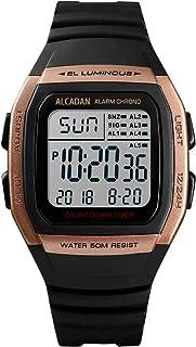 ALCADAN Digital Outdoor Sports Waterproof Watch for Men's and Woman Military Stopwatch Countdown Auto Date Alarm 1278