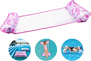 VOLADOR Hamaca de Agua Inflable- Hamaca Flotante Inflable del Agua Cama Flotante de Agua Cama Silla Creativa de Piscina Cama Flotante Silla de Salon Drifter Flotador de Playa para Adulto (Pink)