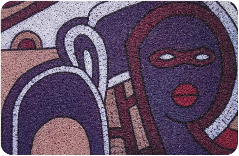 Door mat,Entrance Door mats,Non Slip Backing Indoor mat Floor mat Non-Slip -Purple 60x90cm(24x35inch)