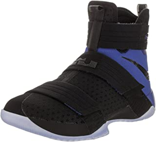NIKE Lebron Soldier 10 SFG Men Basketball Shoes New Black Game Royal - 8.5