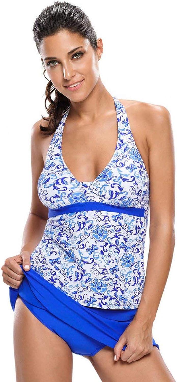 FuweiEncore Damen Badeanzug Spa Hot Hot Hot Spring Bikini Mode Halfter Halfter Badehose blau, XXXL (Farbe   Wie Gezeigt, Größe   S) B07MC6644B  Gewinnen Sie das Lob der Kunden 5ec20f