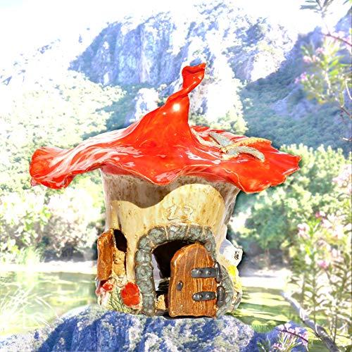 Keramunzel Zipfelhuthäuschen Wichtelhaus Teelicht wunderschönes Unikat - Keramik zum Schmunzeln frech und wunderschön Manufaktur bien-Art
