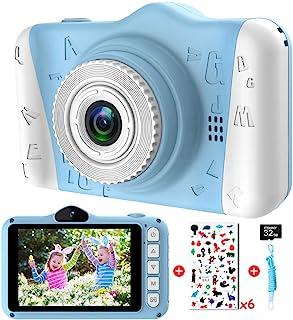 ITSHINY AppareilPhotoEnfants - Appareil Photo Numérique pour Enfants avec 3,5 Pouces Grand écran 1080P HD 12MP Carte SD ...