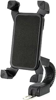 """پایه تلفن مخصوص موتورسیکلت ، دارندگان تلفن همراه DHYSTAR پایه نگهدارنده پایه مخصوص نصب موتور سیکلت ، اسکوتر ، موتورسیکلت در پایه آینه Handelbar ، تنظیمات قابل تنظیم متناسب با 4 """"تا 7"""" تلفن هوشمند"""